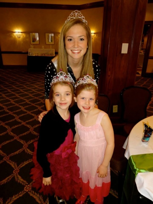Adrienne and 2 future princesses